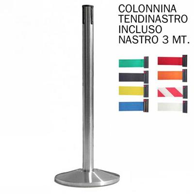 Colonnina a nastro segnapercorso con nastro 3 metri
