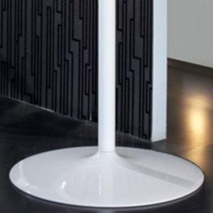 Porta monitor bianco per stand ed isole promozionali