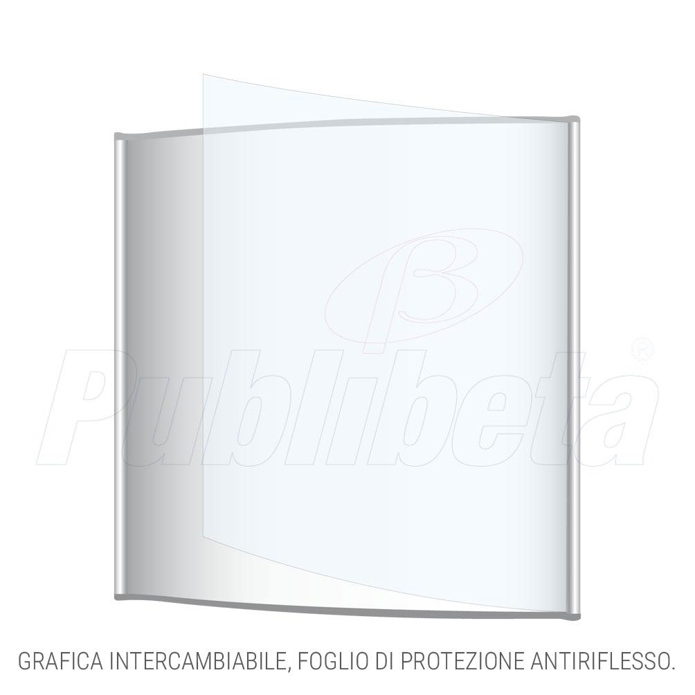 targa in alluminio da parete