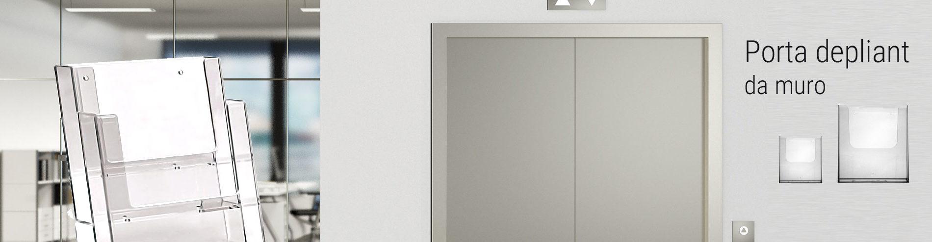 porta depliant plexi da muro