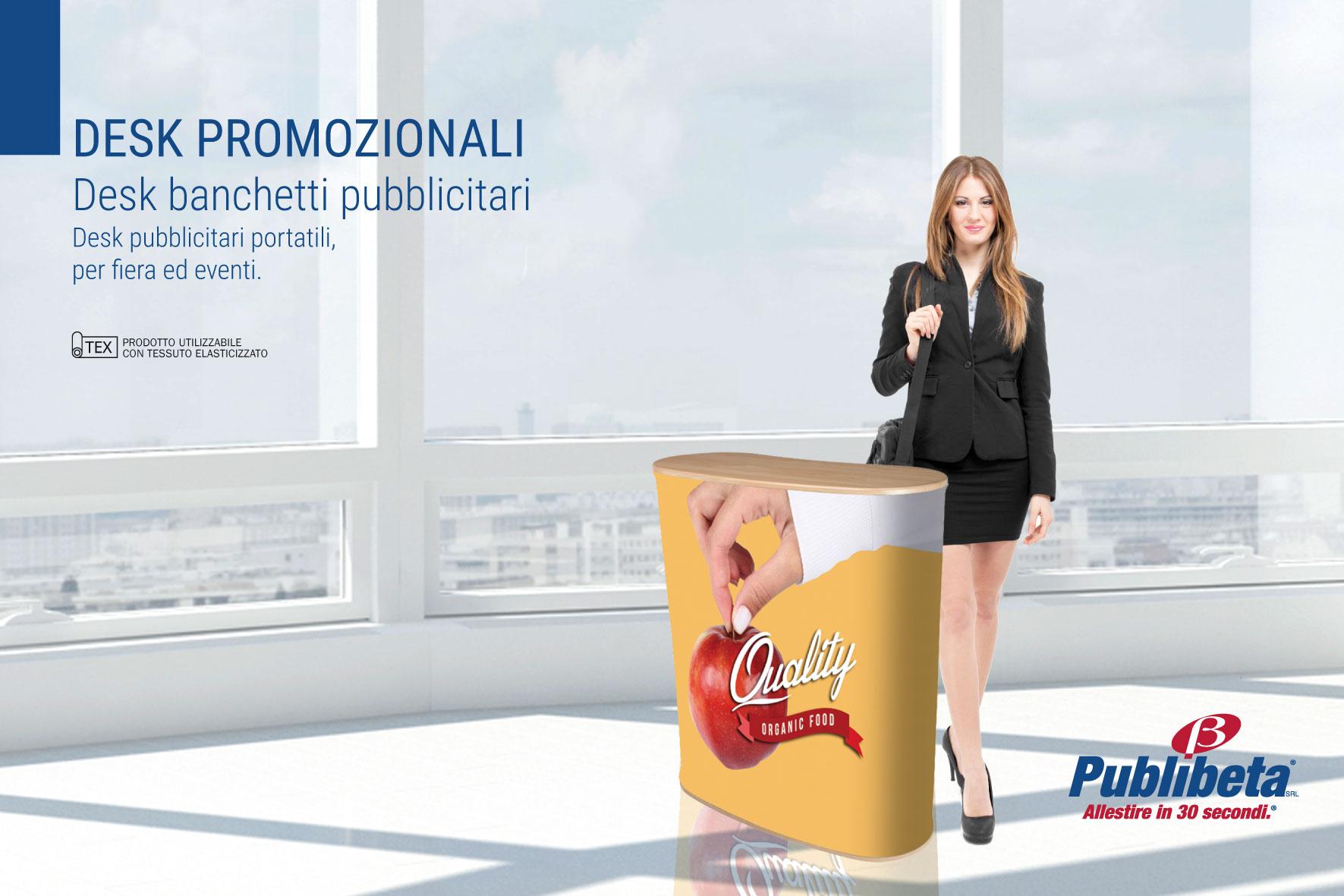 desk promozionali, isole promozionali